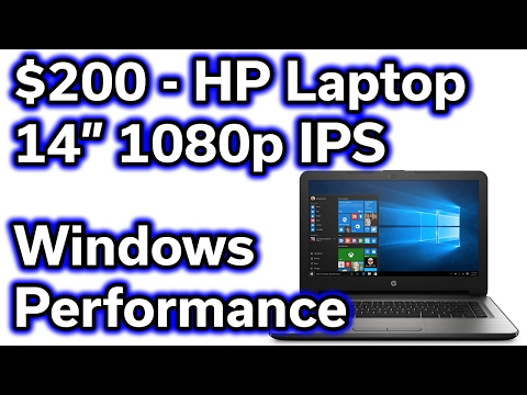 $200 HP Laptop - Windows Performance