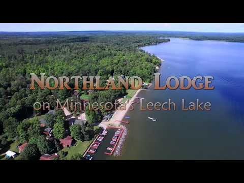Northland Lodge on Minnesota's Leech Lake Aerial Video   Short Version