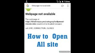 How to fix webpage not available in android