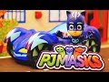 PJ Masks Cartoon Catboy and Romeo Race