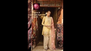 fc2adaac85 ... Sara Clothes Try on Haul MARIA B LAWN COLLECTION 2019 WITH PRICE     UNSTITCHED LAWN SUITS FOR WOMEN BY FIRST