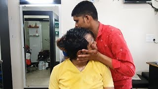 Intense head massage with neck cracking by Barber Aashish | #IndianMassage