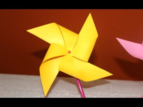 DIY How to make Paper Windmill that Spins || Easy Project for Children