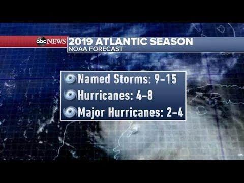 "NOAA predicts ""near-normal"" 2019 Atlantic hurricane season"