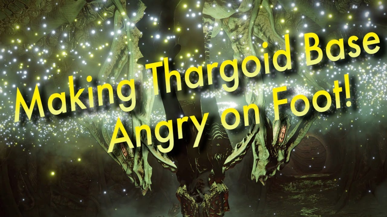 Angering Thargoid Base on Foot   Live