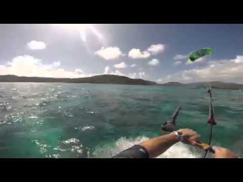 Virgin Gorda BEYC kiting in Eustatia Sound