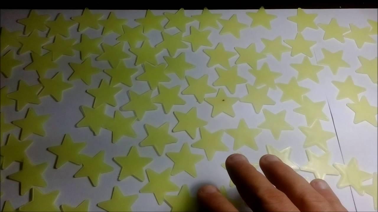 31c56c165 Estrelas Fluorescente Neon que Brilham no Escuro - YouTube