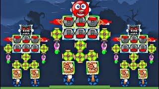 3 СУПЕР - РОБОТА ИЗ ШАРА И КВАДРАТА В BAD PIGGIES в игре красный шарик для детей про Red Ball 4