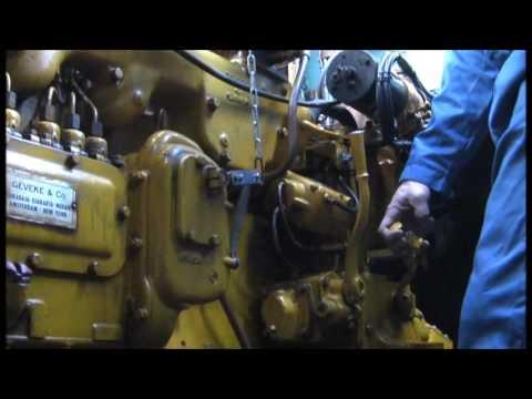 caterpillar d318 marine diesel engine start proces