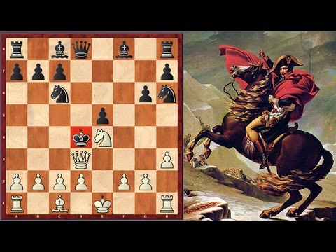 Napoleon Sacrifices A Night And A Bishop And Checkmates His Opponent