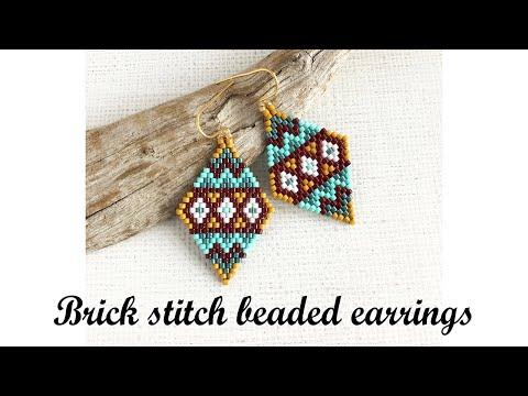 Brick Stitch Beaded Earrings Tutorial