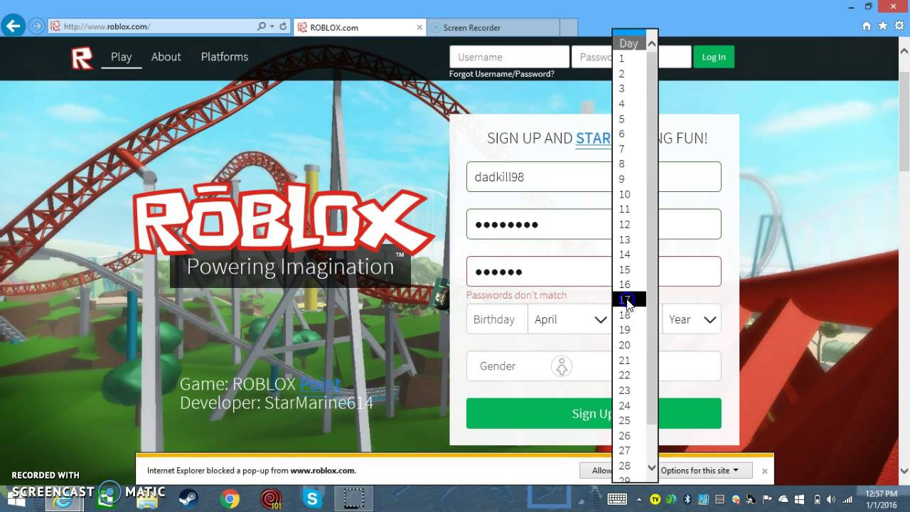 Free roblox account - How To Make A Free Roblox Account