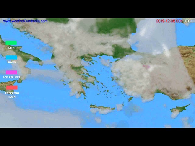 <span class='as_h2'><a href='https://webtv.eklogika.gr/' target='_blank' title='Precipitation forecast Greece // modelrun: 00h UTC 2019-12-07'>Precipitation forecast Greece // modelrun: 00h UTC 2019-12-07</a></span>