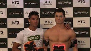 Cristiano Ronaldo meets near-nude clone in Tokyo