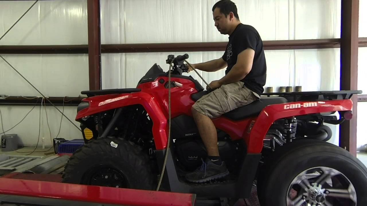 CanAm Outlander 570 with Griffin Performance 700 big bore kit dyno run