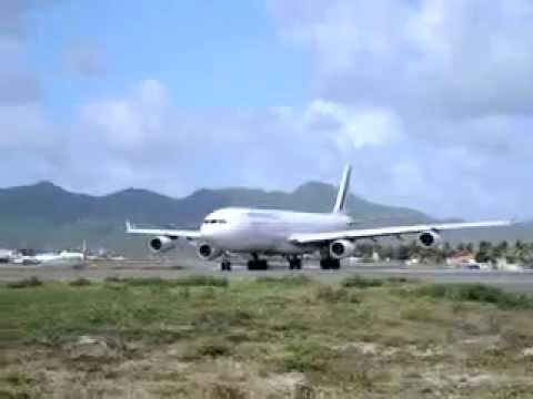 Air France A340 Take Off St Martin