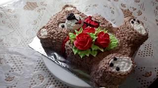 """торт """"Мишутка"""". часть 2"""