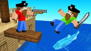 Playing MINECRAFT As A PIRATE! (mod)