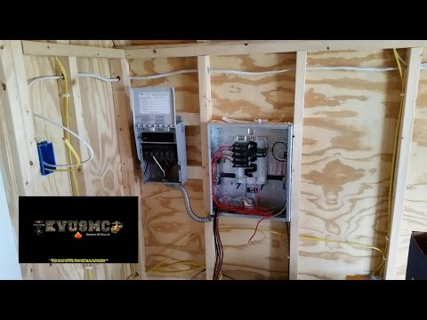 OFF Grid Solar Power And Grid Power Wiring A Tiny House / Playhouse Project  Part 1  With KVUSMC