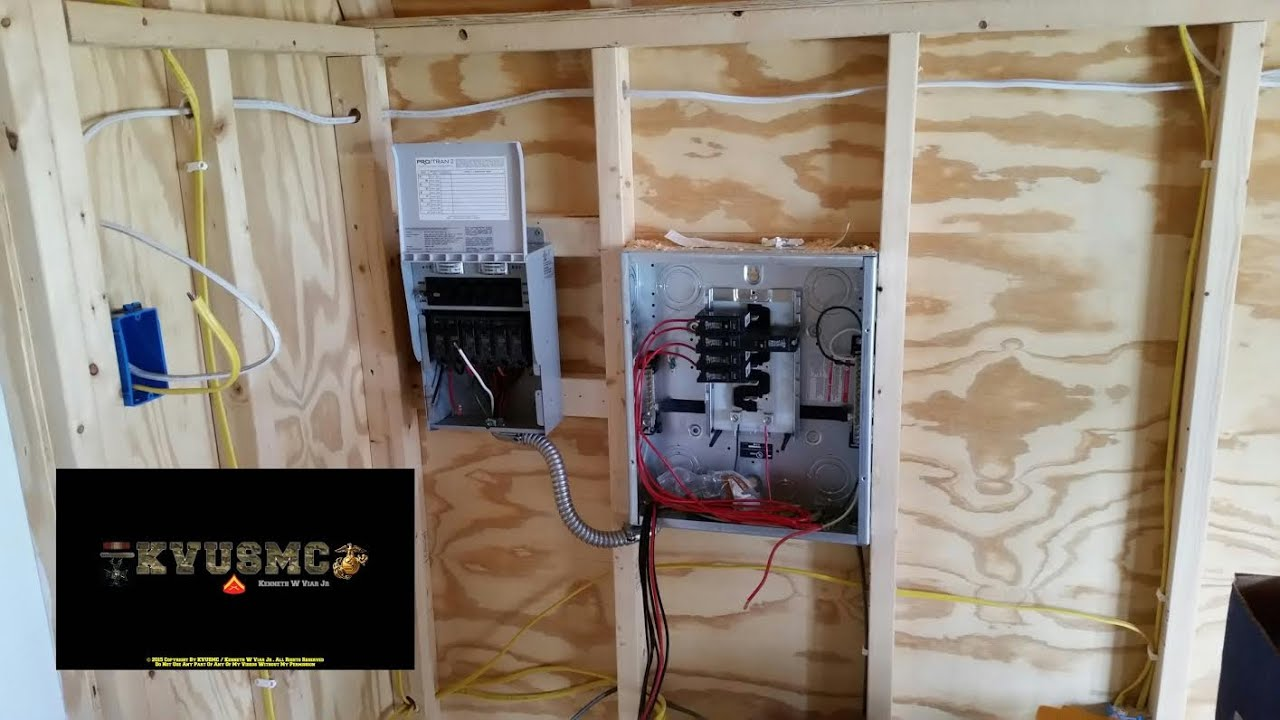 grid solar power and grid power wiring a tiny house playhouse project part 1 with kvusmc