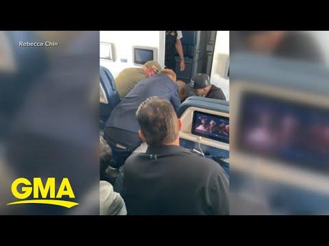 Delta-flight-diverted-after-attempted-cockpit-breach-l-GMA