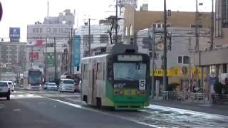 [函館市電]8100形(8101)&9600形@函館駅前