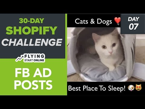 FB Ad Posts For Selling Shopify Products! Simple Copywriting + Creatives  – (Day 7/30) #Bizathon3