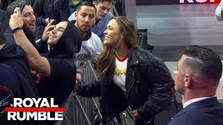 Ronda Rousey returns to ringside after Royal Rumble 2018 goes off the air: Exclusive, Jan. 28, 2018