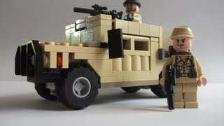How to make a Lego Humvee