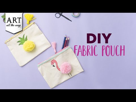 DIY Fabric Pouch | Back To School Craft Ideas | How To Make A Pencil Pouch