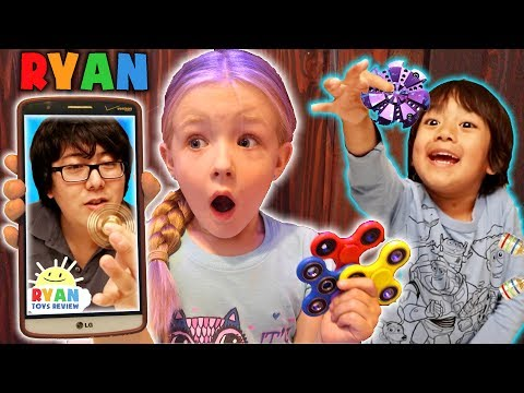 Prank Calling Ryan's Toy Review OMG He Actually Answered & FIDGET SPINNER GIVEAWAY - Ryan ToysReview