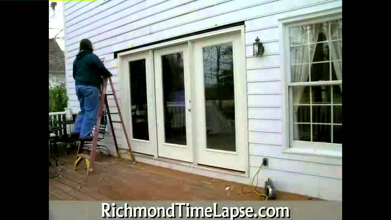 9 Foot French Door Install Time Lapse Youtube