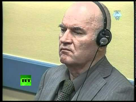 Video of Ratko Mladic appearing at Hague tribunal for 1st time