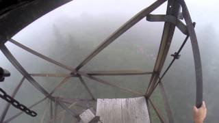 Climbing the Mount Sterling fire tower in the Great Smoky Mountains
