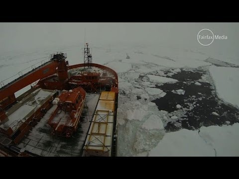 Australian icebreaker struggles to reach icebound vessel