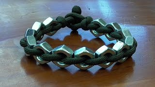 """How You Can Make A Super Simple Hex Nut And Paracord Bracelet"""