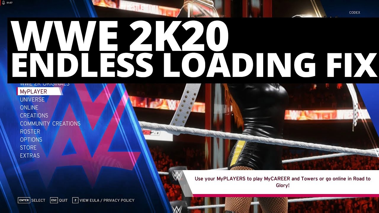 WWE 2K20 Endless Loading, Infinite Loading Screen Stuck Freeze Fix Solution