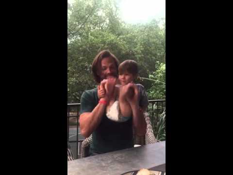 Jared Padalecki fb video. Dancing with Shep!