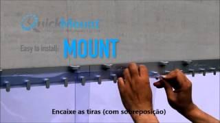 Quickmount - Trilho para Cortina em Tiras (patenteado)