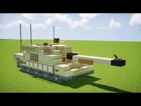 Minecraft Challenger 2 Main Battle Tank Tutorial