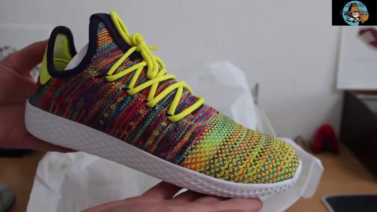 c49aa0b2c336b chameleon Adidas Pharrell Williams Tennis Hu Noble Ink Multicolor ...