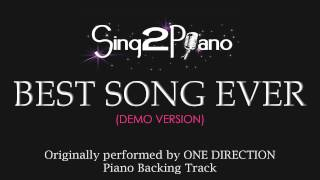 Best Song Ever (Piano Karaoke Version) One Direction