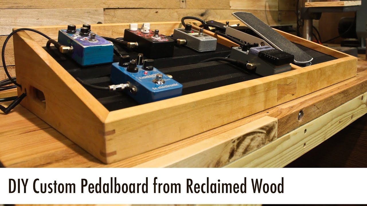 diy custom pedalboard from reclaimed wood youtube. Black Bedroom Furniture Sets. Home Design Ideas