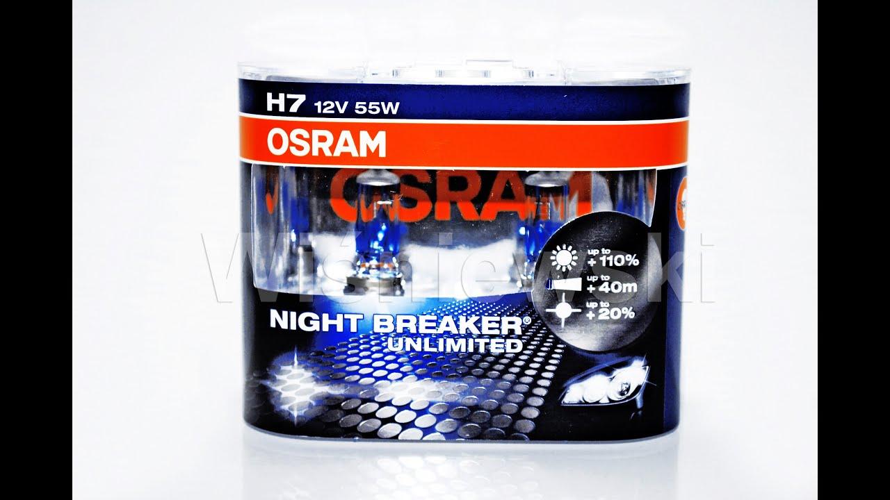 h7 osram night breaker unlimited 110 ar wka halogenowa youtube. Black Bedroom Furniture Sets. Home Design Ideas