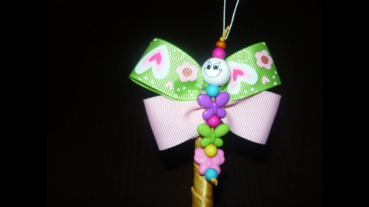 Como decorar lapiceros con mariposas en cinta lapiceros for Lapiceros reciclados manualidades