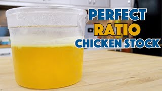 How To Make Clear Perfect Ratio Chicken Stock || Glen & Friends Cooking