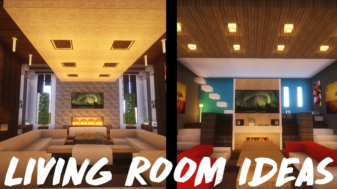 Minecraft living room ideas inspiration youtube for Minecraft lounge ideas