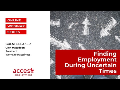 Finding Employment During Uncertain Times