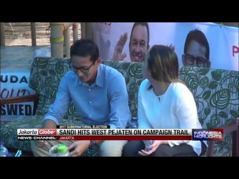 Sandiaga Uno Hits West Pejaten On Campaign Trail