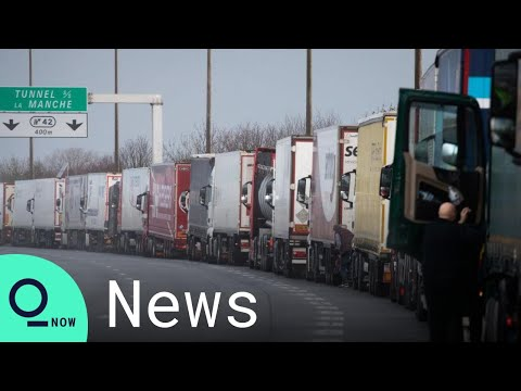 Brexit: Companies Stockpiling Leads to Lorry Traffic Jam in Calais, France